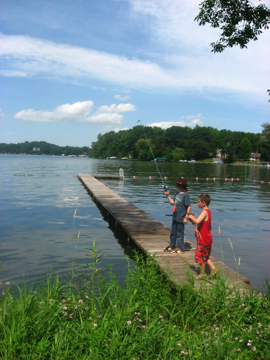 Summer camp activities lake waubesa bible camp for Fishing summer camp