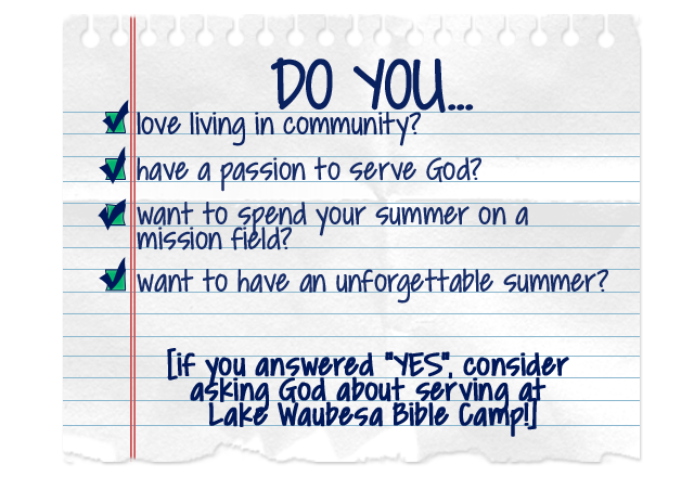 summer staff checklist